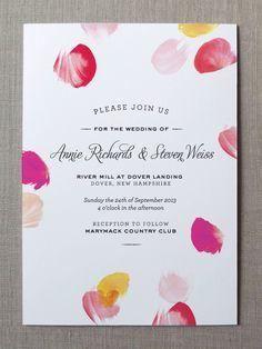 Watercolor Wedding Invitations by Fine Day Press via Oh So Beautiful Paper (1)