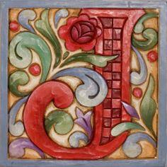 Jim Shore Monogram Initial Letter Block I J K M N O | eBay