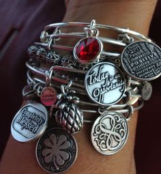 "Love love ""Alex and Ani"" bracelets"