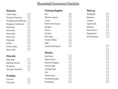 Household Inventory Checklist, Annual Bill Calendar, Cleaning Schedule, Menu Planner, etc. - Everything you need for an organized household!