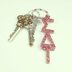 Sigma Delta Tau glitter keychain $8.00