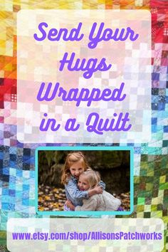 Missing hugs with the ones you love? Send your hugs wrapped in a warm quilt and share the love :-) There's a great choice of quilts suitable for all ages in my Etsy Shop, AllisonsPatchworks. Sending You A Hug, New Every Morning, Children's Quilts, Esty, Winter Months, Quilting Designs, Hugs, Love You, Etsy Shop
