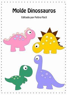 Feltro Fácil Moldes e Apostilas: Molde de Dinossauros em Feltro!