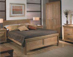 oak bedroom furniture sets | ... Washed Oak Queen Sleigh Bedroom ...