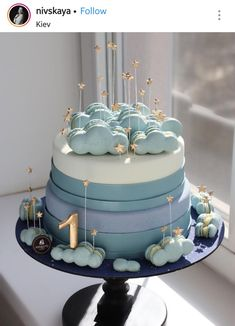 Birthday cakes are one of the most important things of interest in any birthday celebration. A birthday party with no tasty birthday cake will not mak. Baby Birthday Cakes, Baby Cakes, Baby Shower Cakes, Cupcake Cakes, Girl Cakes, Beautiful Birthday Cakes, Beautiful Cakes, Amazing Cakes, Pretty Cakes
