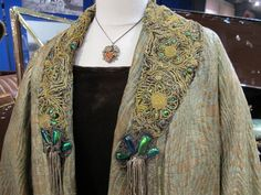 Evening coat with beetle wing embroidery, circa 1925: Fountainhead Antique Auto Museum