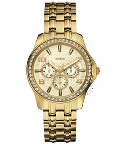 GUESS Multifunction Crystal Gold Stainless Steel Bracelet Η τιμή μας: 195€ http://www.oroloi.gr/product_info.php?products_id=31734