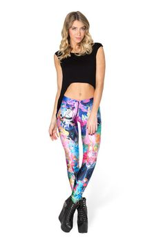 Sleeping Beauty Leggings - LIMITED › Black Milk Clothing. Sleeping Beauty fair, gold of sunshine in your hair. Lips that shame the red, red rose, dreaming of true love in slumber repose. #MyCloset #MyLife