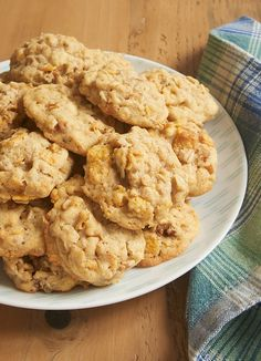 Corn Flake Oatmeal Cookies are soft, chewy, and crunchy all at the same time. These always disappear so quickly!