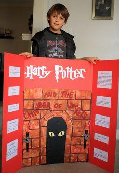 reading fair project (6) | velveta | Flickr Book Report Projects, Reading Projects, Fair Projects, Book Projects, School Projects, History Education, Teaching History, Harry Potter Plakat, Classe Harry Potter
