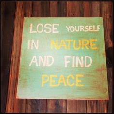 Nature quote sign on Etsy, $45.00