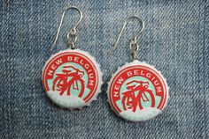 Yep, New Belgium Brewing earrings...who says Ale's aren't for females?