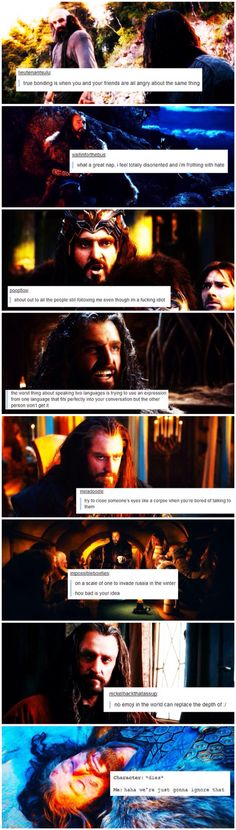 """On a scale of one to invade Russia in the winter, how bad is your idea?""                                           Thorin + text posts"