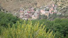 Blick auf das Berber-Bergdorf Setti Fatma im Ourika-Tal, nördlicher Hoher Atlas, Marokko Berber, Marrakech, Grand Canyon, Nature, Travel, Morocco, Waterfall, Places, Viajes