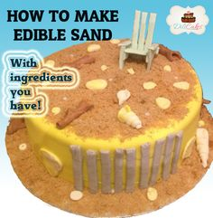 Easy edible sand with ingredients you have at home already