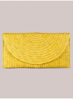 Ipanema Clutch in Yellow #IGIGI  ...I would wear this with any of the 3 dresses but would love it with the Aditi dress - so sunny!