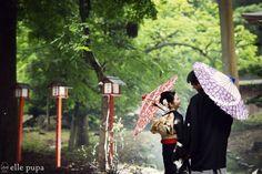 引き振袖で前撮り at 日吉大社  *ウェディングフォト elle pupa blog* Ameba (アメーバ)