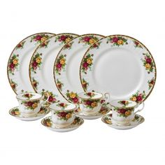 Old Country Roses 12-Piece Dinnerware Set