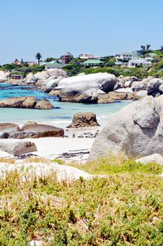 The White House on the Right Hand side of the photo is Boulders Beach, Cape Town, South Africa Pretoria, South Afrika, Boulder Beach, Namibia, Le Cap, Cape Town South Africa, Belle Villa, Most Beautiful Cities, Africa Travel
