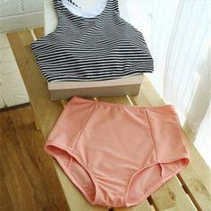 Tank Striped Top   High Waisted Women Bikini - Daisy Dress For Less - 2