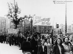 Women during the May Day Demonstration in Berlin (May 1, 1946)