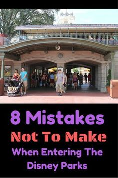 These Disney World Tips can definitely save you time and frustration when entering the parks! Here are 8 mistakes not to make when entering the Disney parks Disney Parks, Disney Cruise Tips, Disney Vacation Planning, Disney World Planning, Walt Disney World Vacations, Disney Travel, Disney 2017, Disneyland Vacations, Vacation Ideas
