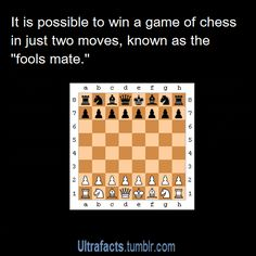 You can win chess in 2 moves