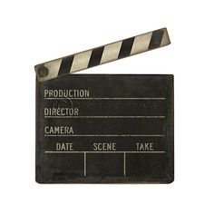 Take Two Clapboard Cutout | dotandbo.com For all the film directors