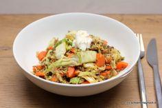 Schöner Tag noch! Food-Blog mit leckeren Rezepten für jeden Tag: Hack-Chinakohl-Pfanne mit Karotten und gebratenem ...