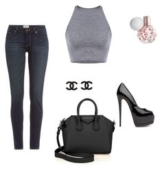 """Ariana Grande Inspired"" by breakfestatgabis on Polyvore featuring Paige Denim and Givenchy"