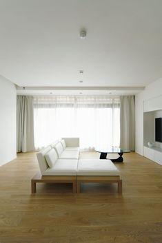 living room | WORKS | SEKI DESIGN STUDIO It Works, Curtains, Living Room, Studio, Design, Home Decor, Blinds, Decoration Home, Room Decor