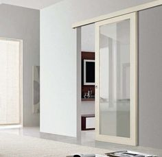 Porte scorrevoli in vetro (Foto Glass Design, Hygge, Glass Door, Bathroom Medicine Cabinet, Doors, Dining, Interior Design, Design Ideas, Home Decor
