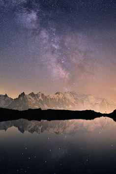 Milky Way Over Mont Blanc (by Nuitsacrées)