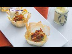 Cestini con gamberi e avocado - YouTube Avocado, Finger Foods, Baked Potato, Risotto, Tacos, Potatoes, Mexican, Baking, Ethnic Recipes