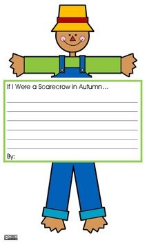 If I Were a Scarecrow in Autumn...Writing Prompt
