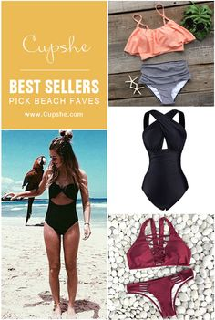 Check Best sellers! Short Shipping Time! Easy Return + Refund! You will be the star with our chic swimwear. Give you hot beach look at Cupshe.com