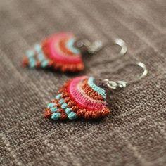 Things We Make: Swoon-worthy Crochet Accessories from Maria of Kjoo Love Crochet, Bead Crochet, Crochet Crafts, Yarn Crafts, Crochet Flowers, Crochet Hooks, Crochet Projects, Crochet Earrings, Jewelry Crafts