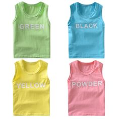 >> Click to Buy << 2-8Y Children Vest Baby Summer Shirt Boy Tanks Solid Color Girl Cotton Tank Kids Sleeveless Casual Beach Tops&Tees #Affiliate