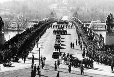 On November 25, 1963 an estimated one million people lined the streets to mourn and view the formal funeral procession for President John F. Kennedy, from the U.S. Capitol to St. Matthew's Cathedral, then to his final resting place at Arlington National Cemetery.