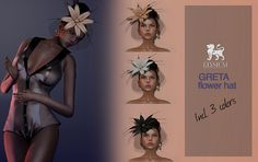 L` accessories October: Greta flower hat w. net | Flickr - Photo Sharing!