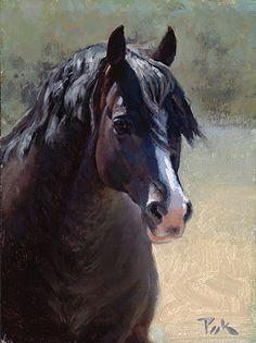 Horse painting by Carol Peek