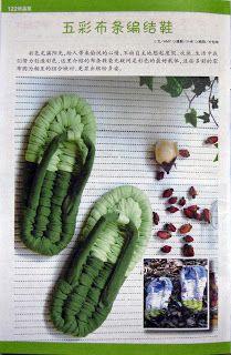 LA CASITA DE MABELY: sandalia de trapos de paginas chinas