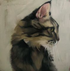 High Jinks a cat painting by Diane Hoeptner by Diane Hoeptner
