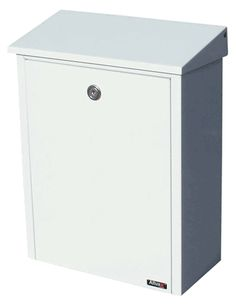 QualArc | Allux 200 Locking Wall Mount Mailbox in White | Residential Mailbox