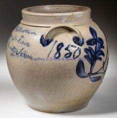 Stoneware Crocks, Antique Stoneware, Antique Pottery, Stoneware Clay, Earthenware, Pottery Pots, Glazes For Pottery, Glazed Pottery, Antique Crocks