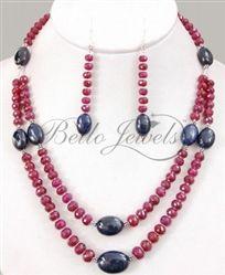 ruby sapphire jewelry set