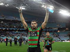 Greg Inglis - South Sydney Rabbitohs what a player Australian Rugby League, There Goes My Hero, Fan Picture, Rugby Players, Real Men, Game Changer, Motivation Inspiration, Bunnies, Sydney
