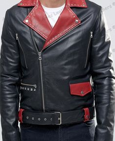 New Men's Genuine Lambskin Leather Jacket Holiday Special Biker Hot Style Best Leather Jackets, Vintage Leather Jacket, Lambskin Leather Jacket, Leather Men, Leather Pants, Black Leather, Stylish Mens Fashion, Fashion Moda, Leather Fashion