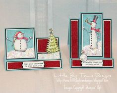 Snow Much Snowball Fight! - pinning this simply for the card foldering... i like it