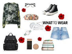 """""""Untitled #225"""" by xolafkax on Polyvore featuring Ottolinger, Frame, Converse, Burberry, CLUSE, Rimmel and Roxy"""